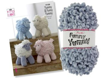 King Cole Yummy & Funny Yummy Yarns & Toy Patterns