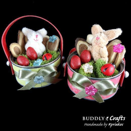 Tuna Tins Mini Easter Garden Baskets