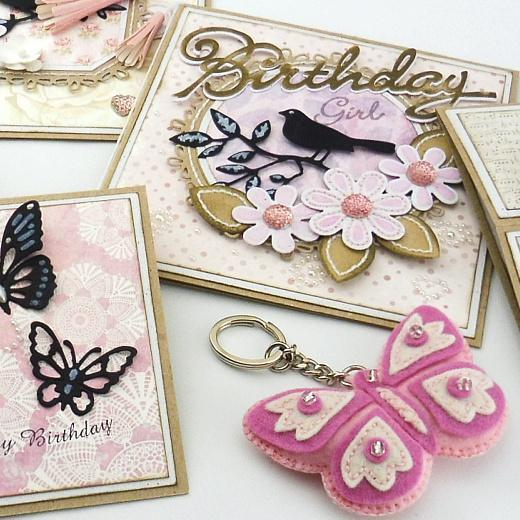 Die-Cutting & Embroidery Birthday Cards for Women