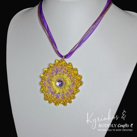 Golden Clay Pendant