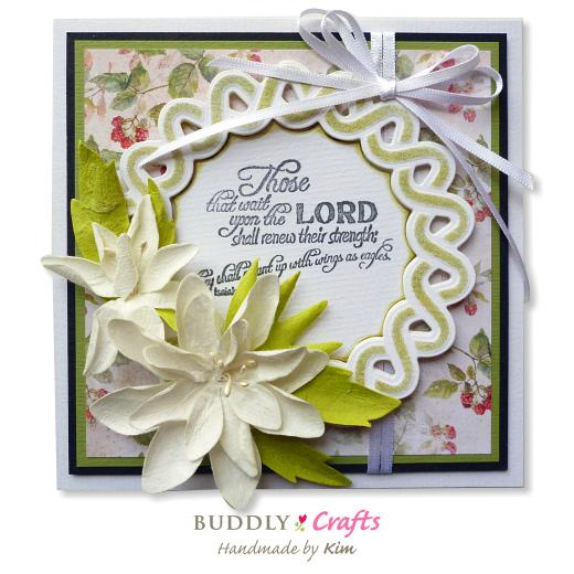 Handmade Die Cut Flowers for Sympathy Cards | Buddly Crafts