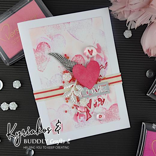 'No Stamp' Stamping Valentine Card