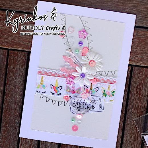 Make A Wish Unicorn Ribbon Card