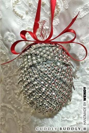 Bling Pine Cone Tree Decoration Tutorial