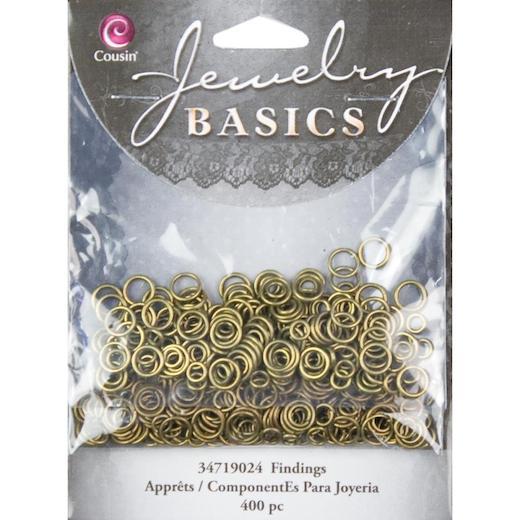 Cousin Jewelry Basics 4-6mm Metal Jump Rings 400pcs