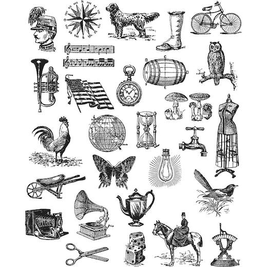 Tim Holtz Cling Rubber Stamps
