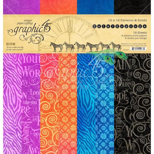 """Graphic 45 12/""""x12/"""" Double-Sided Paper Pad 16pcs Kaleidoscope G4501857"""