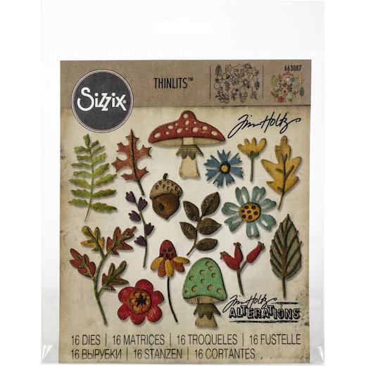 Sizzix Thinlits Dies By Tim Holtz 20pcs Funky Foliage 663087