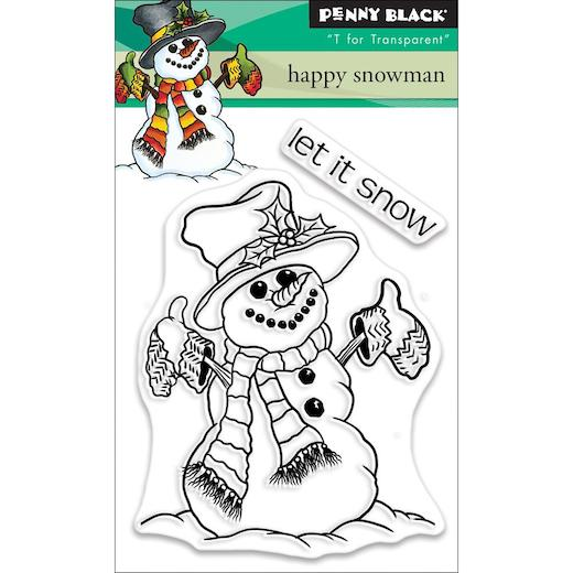 Penny Black Mini Clear Stamps Happy Snowman 30-503