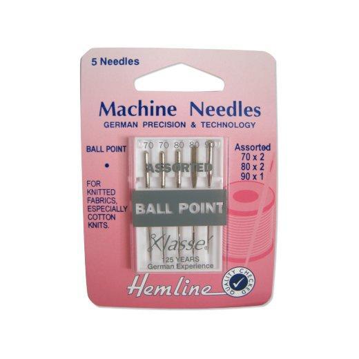 Fine Ball Point Machine Needles Knitted Fabrics 5pk 70//10 Hemline H101.70