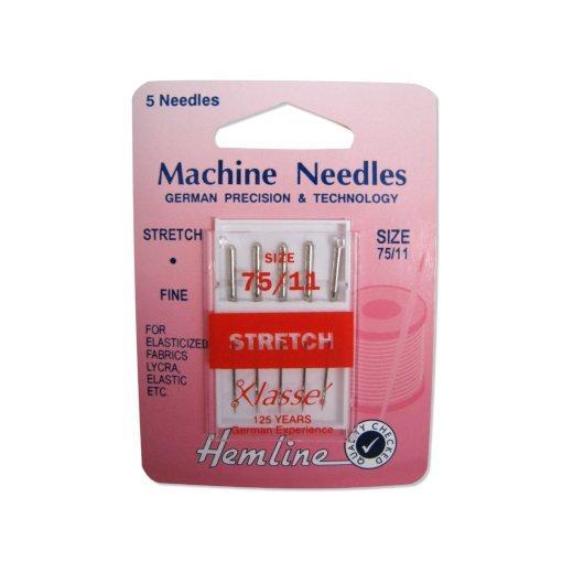 75 11 Fine Hemline Machine Needles Stretch