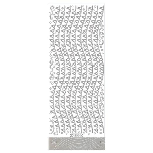 2 X Peel Off Stickers Silver 1074 Corners//Wavy Borders