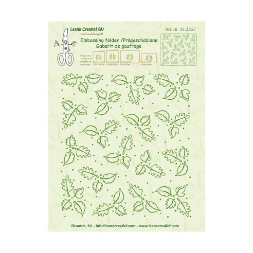 Leane Creatief Border Embossing Folder LEAVES  14.9 x 3.5cm 35.0249 *