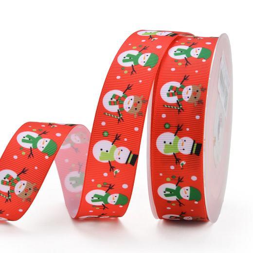 2 m Christmas Favourites Buddly Crafts 25 mm Ruban Imprimé Grosgrain