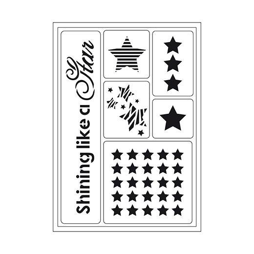 Viva Decor Flexible Sticky Stencil - Shining Like A Star #091