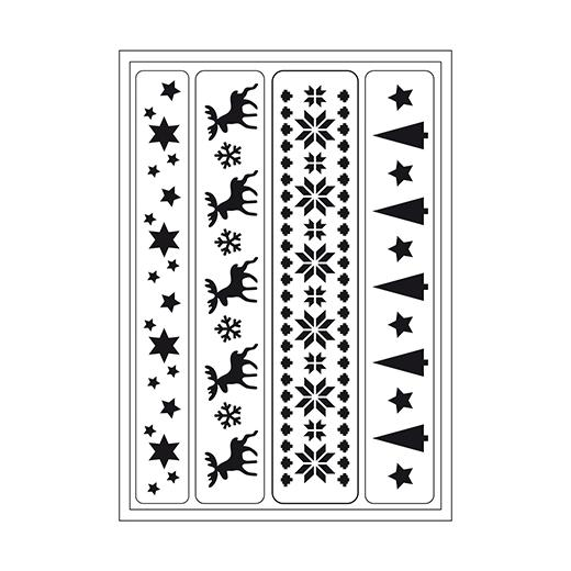 Viva Decor Flexible Sticky Stencil - Reindeer Embroidery #096
