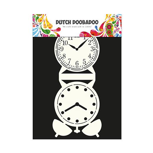 dutch doobadoo card art template clock 713505 buddly crafts. Black Bedroom Furniture Sets. Home Design Ideas