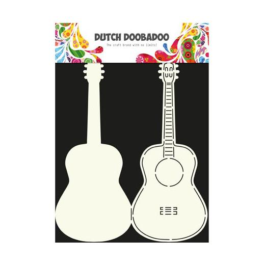 Dutch doobadoo card art template guitar for Guitar cut out template