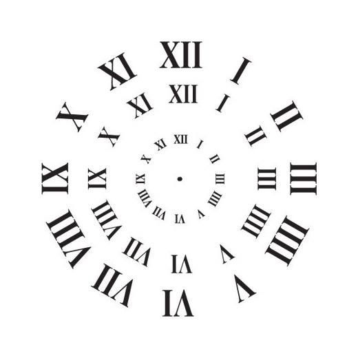 stencil clock face roman numerals 3 sizes buddly crafts. Black Bedroom Furniture Sets. Home Design Ideas