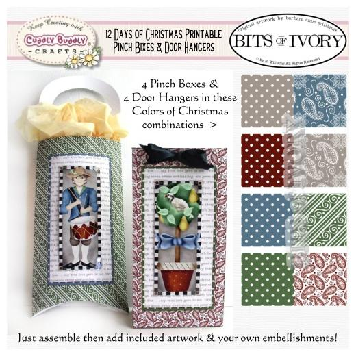 photograph regarding 12 Days of Christmas Printable referred to as Barbara Anne Williams Printables - 12 Times of Xmas Bins Hangers