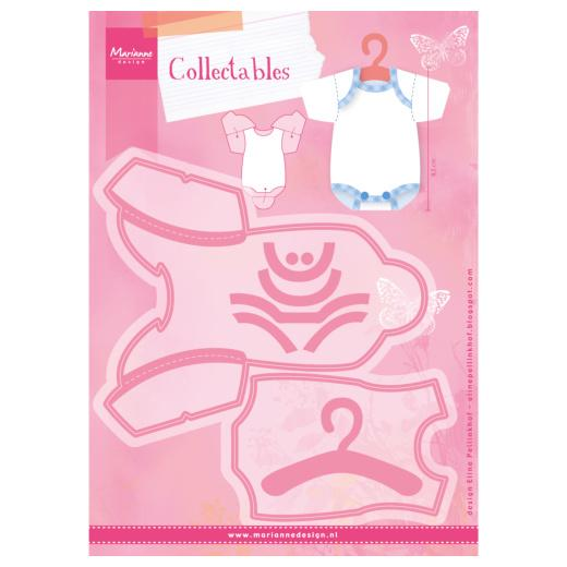 Baby Kersttrui.Marianne Design Collectables Cutting Dies Eline S Baby Bodysuit