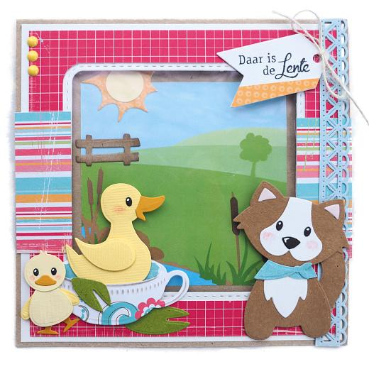 Metal Pink Marianne Design Collectables Elines Duck Family Die 21 x 15.4 x 0.2 cm