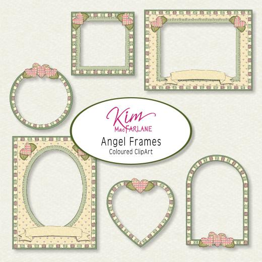 Kim\'s ClipArt - Country Angel Frames Pink | Buddly Crafts