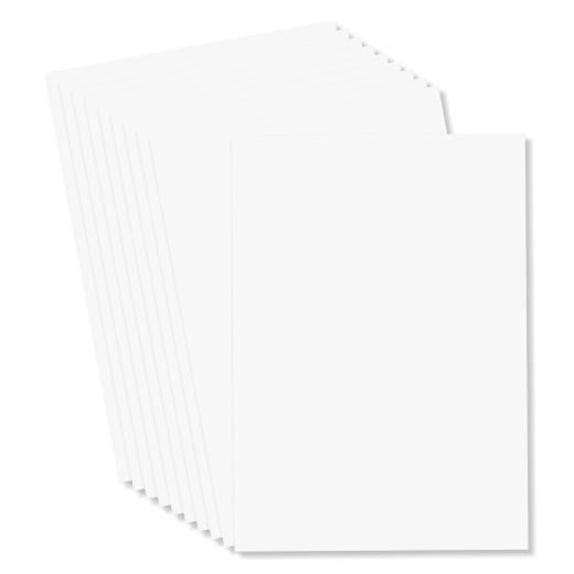 10pcs White Heyda A4 Smooth Bristol Cardstock