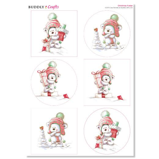 Christmas Toppers For Card Making.Pachela Studios Print Craft Card Toppers Christmas Fudge