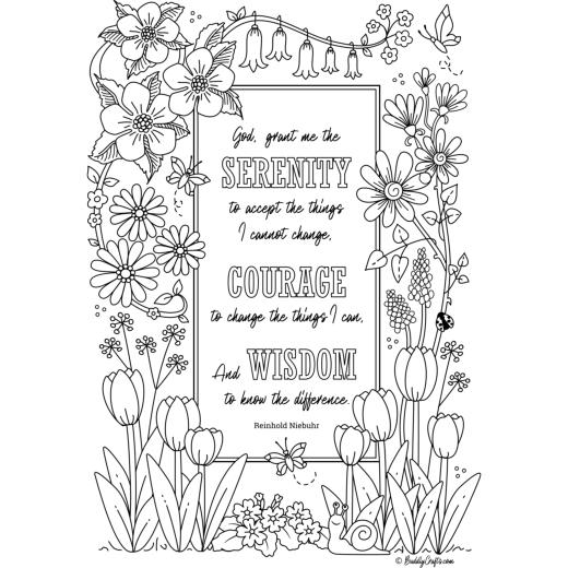 It's just a photo of Printable Serenity Prayer inside framed