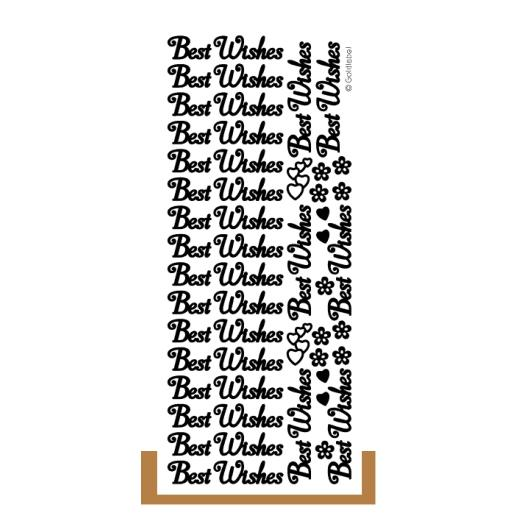 Craft creations words peel off stickers 2pcs best wishes gold 428