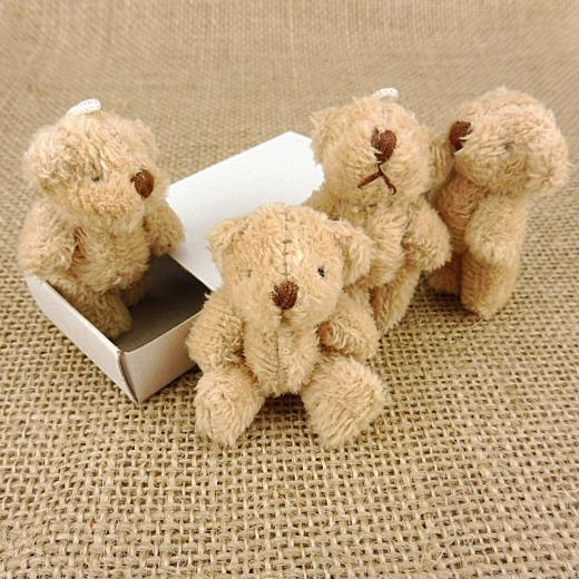 Buddly Crafts 35mm Tiny Plush Teddy Bears 4pcs
