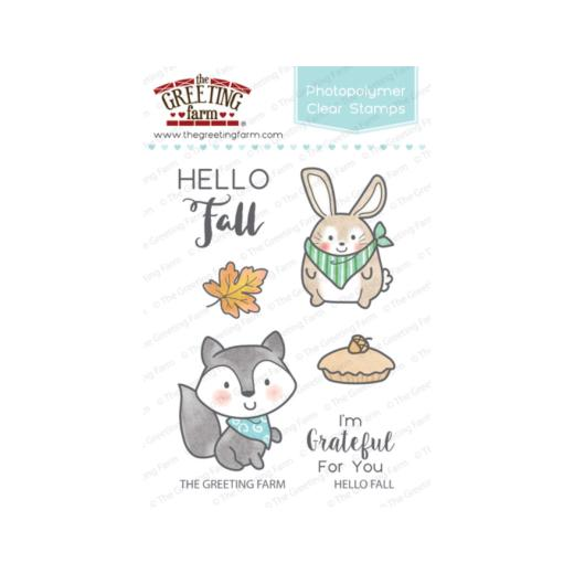 The greeting farm clear stamps set hello fall tgf hf22 buddly crafts the greeting farm clear stamps set hello fall tgf hf22 m4hsunfo