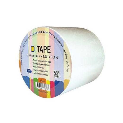 Jeje Wide Double Sided Adhesive Tape 15m Roll 100mm Wide