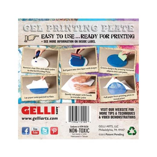 Gelli Arts Gel Printing Plate Round - 15 24cm (6