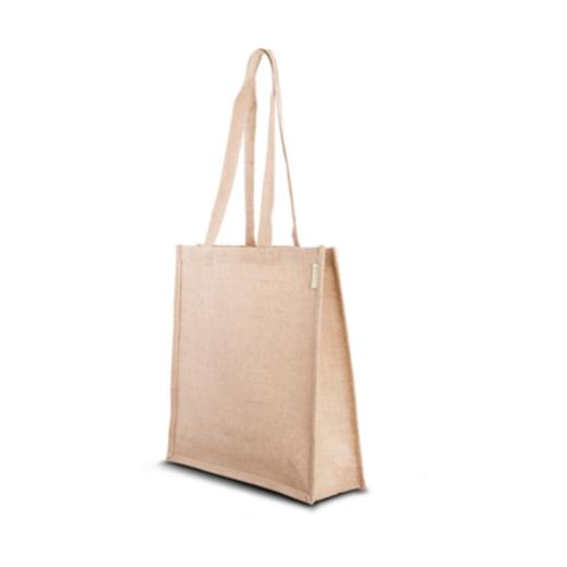 more photos release info on reasonably priced Details about Eco-Products Jute Shoulder Bag 40x40x13cm #136