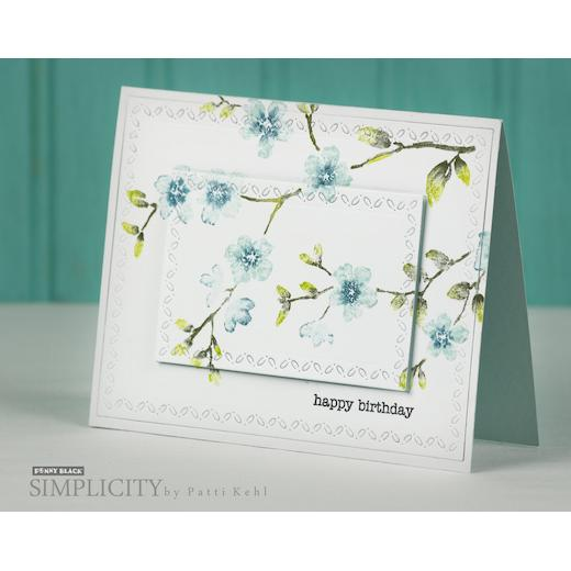 Blissful Penny Black Decorative Rubber Stamps