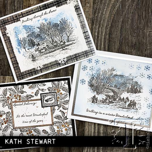 """Tim Holtz Cling Stamps 7/""""X8.5/""""-Scenic Holiday"""