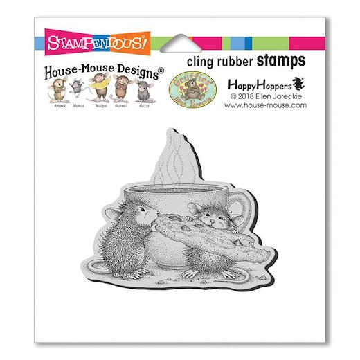 Stampendous HMCR130 House Mouse Cling Cookie Ornaments Rubber Stamp,