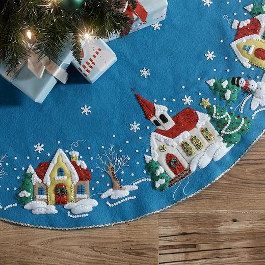 "Bucilla 43"" Felt Christmas Tree Skirt Kit - Christmas ..."