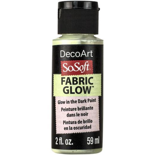 Decoart Sosoft Acrylic Fabric Paint Medium 59ml 2oz Glow In The Dark