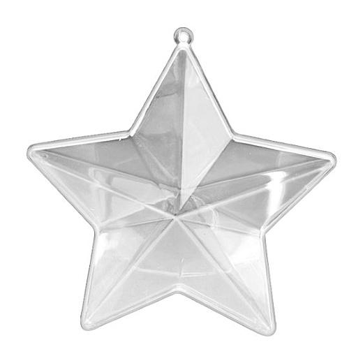 Knorr Prandell Clear Acrylic Fillable Star 14cm Five Point #640