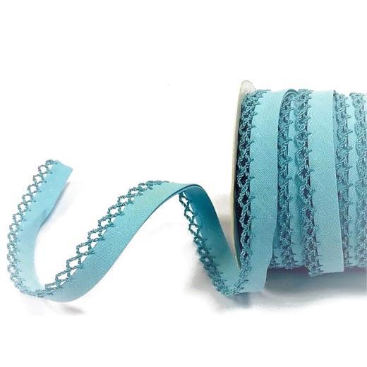 Byetsa 14mm Crochet Lace Edged Bias Binding 1m #7141116