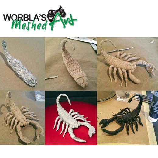 Worbla-Meshed-Art-WMA-Thermoplastic-Modelling-amp-Moulding-Sheet miniatuur 4