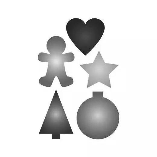 Christmas Shapes.Pronty A5 Stencil Christmas Shapes 268115