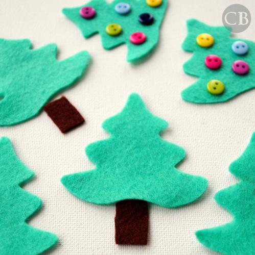 Felt Christmas Tree Ornament Tutorial  Buddly Crafts