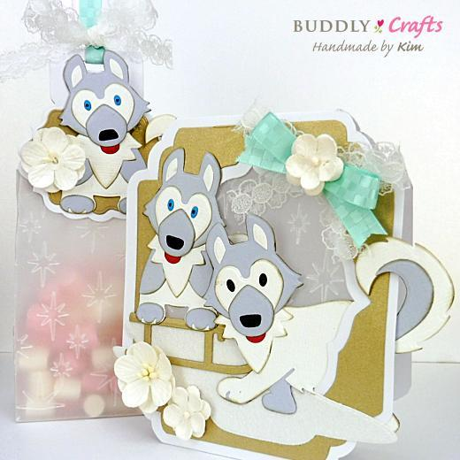 Husky Christmas Cards.Let It Snow Diorama Tent Christmas Cards Buddly Crafts
